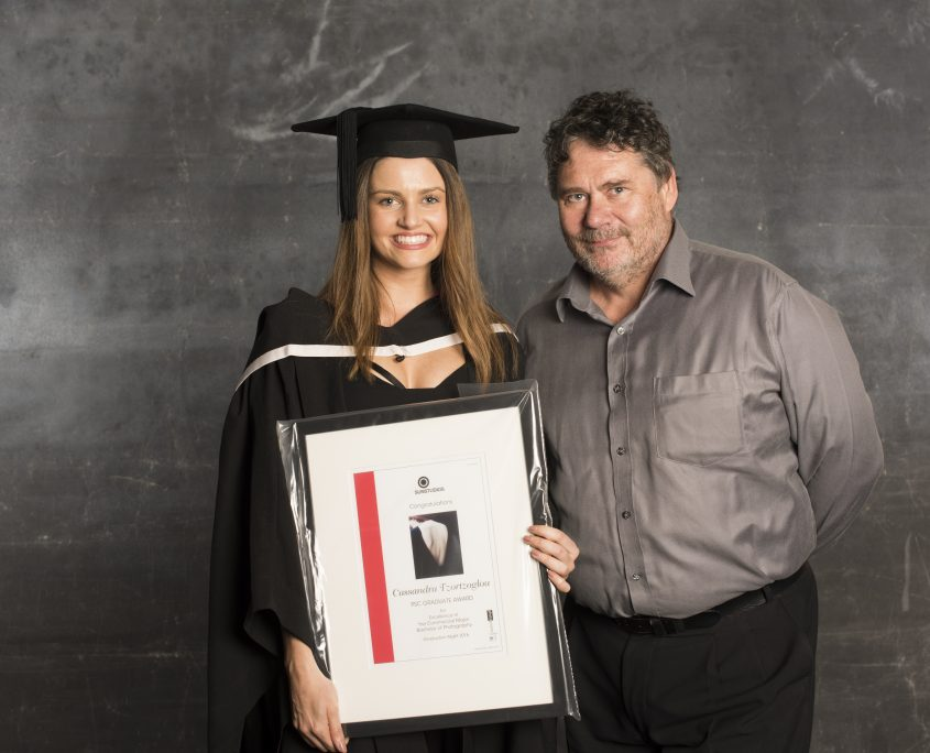 Cassandra Tzortzoglou with her Father