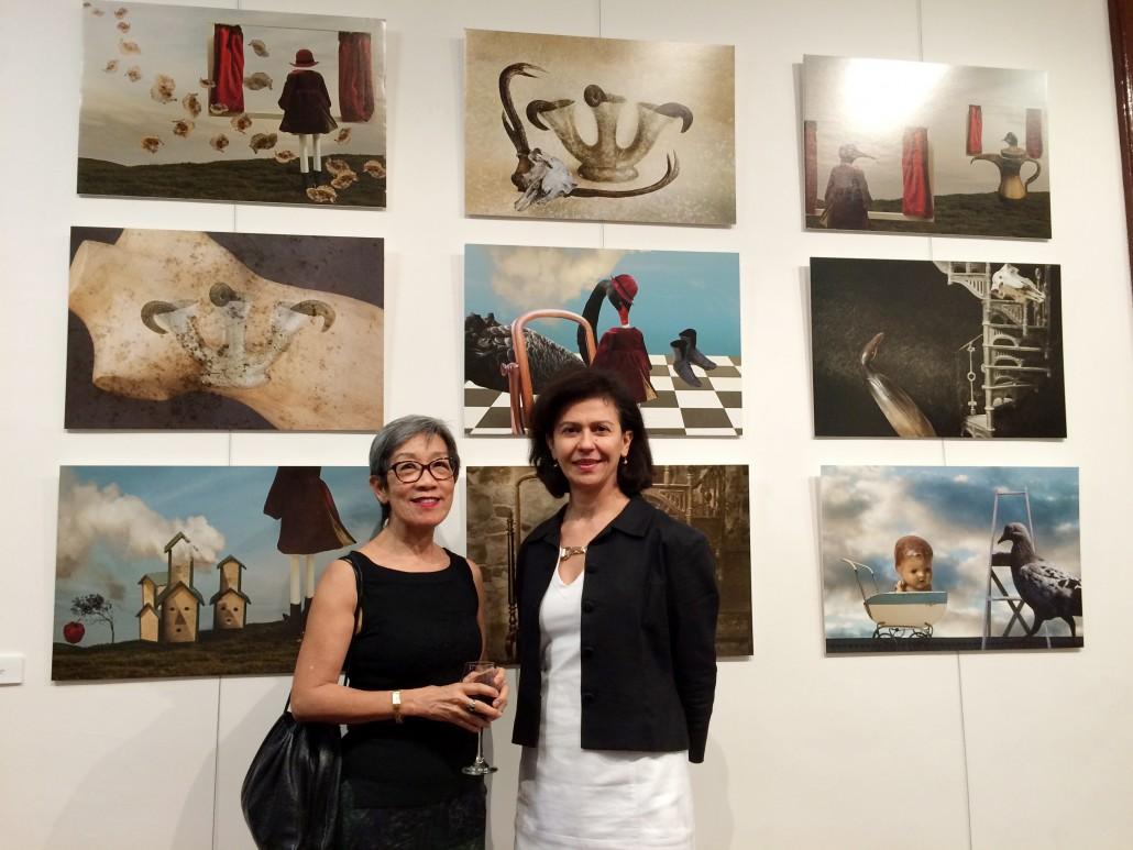QVWC venues coordinator, Patricia Saca and Margaret Lim