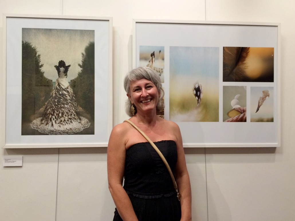 Elma Gradascevic with her work