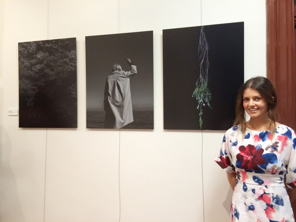 Cassandra Tzortzolgou with her work