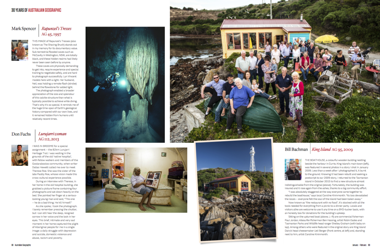 Bill Bachman is Featured in the Australian Geographic. Click the image to see more.