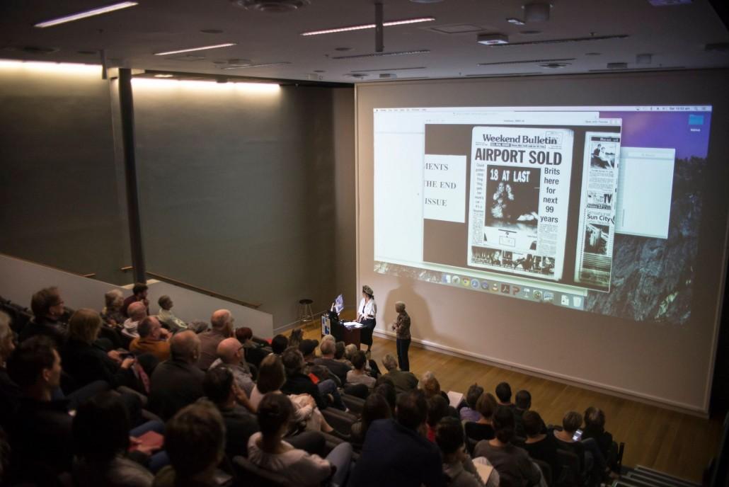 Ying Ang presenting her talk at Photobook NZ 2016