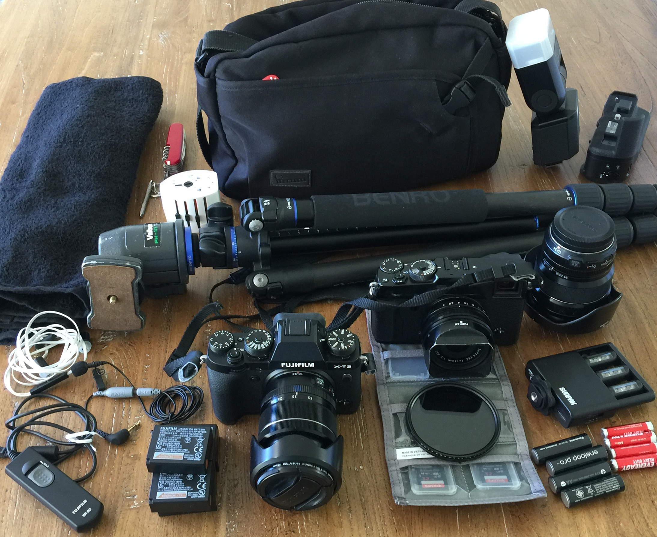 What I travel with
